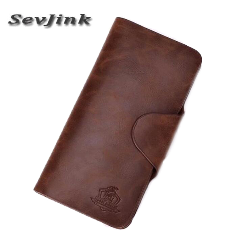 Vintage Genuine Leather Men Wallets Fashion Purse With Card Holder Vintage Long Wallet