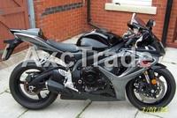 Мотоцикл Обтекатели для Suzuki GSXR GSX R 600 750 GSXR600 GSXR750 2006 2007 K6 ABS инъекции обтекателя Кузов комплект серебристый, черный