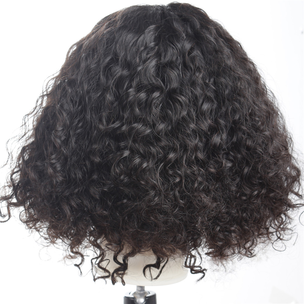 150% Density Short Curl Lace Front Human Hair Wigs Peruvian Curly Human Hair Wigs Pre Plucked Short Bob Wig With Baby Hair Remy Superior Performance Lace Wigs