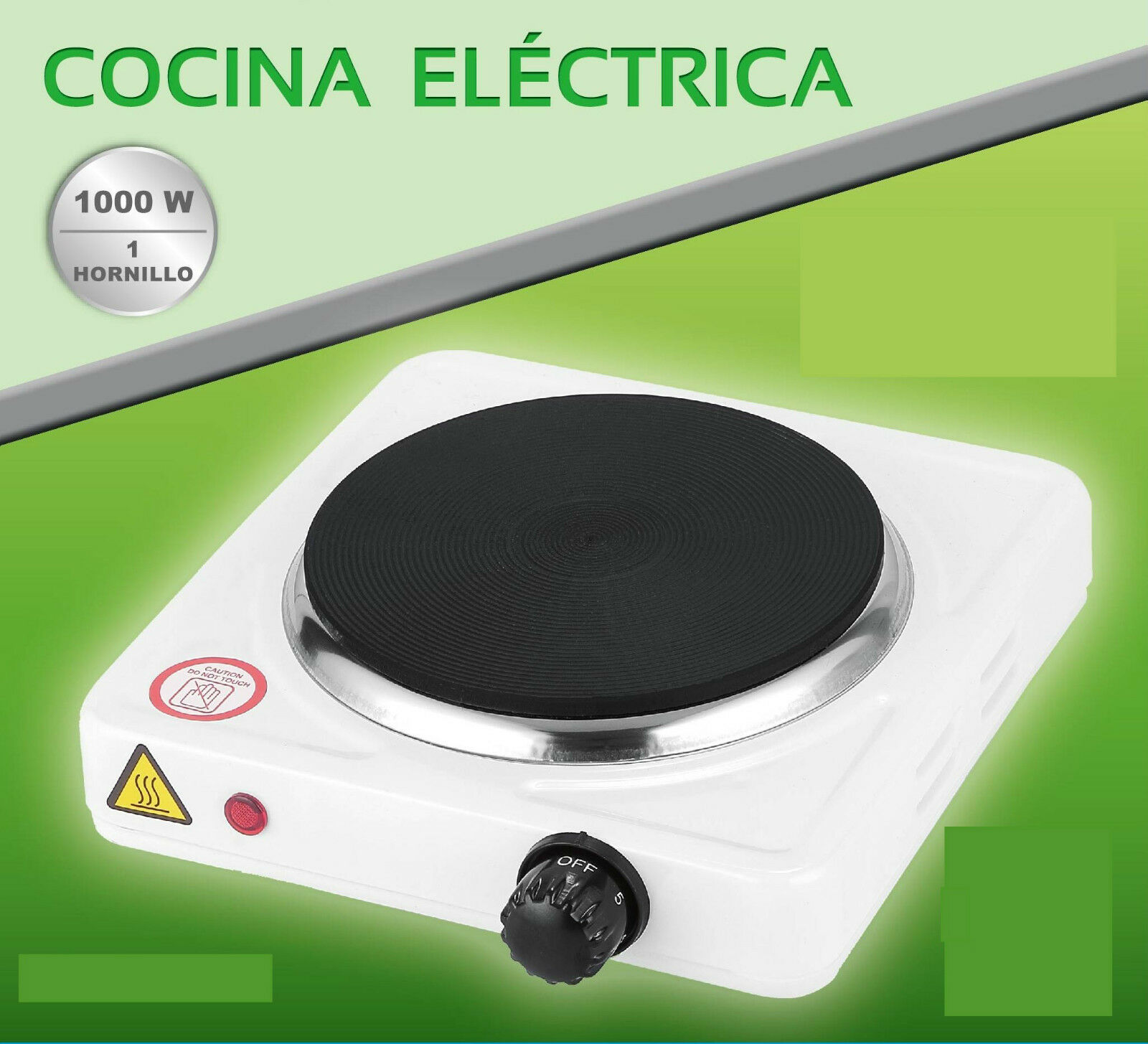 ELECTRIC KITCHEN STOVE 1000 W 1 FIRE PLATE ELECTRICO CAMPING WARANTY MP-CE1000