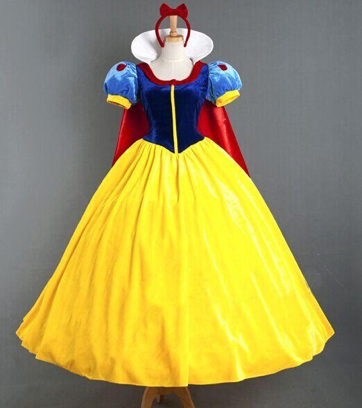 Children Cosplay Dress Snow White Girl Princess Dress Women Adult Halloween Cartoon Princess Snow White Halloween Party Costume