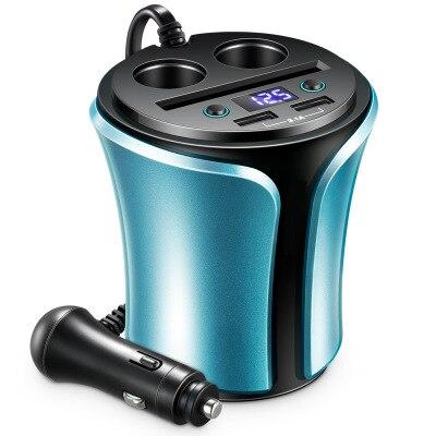 En forme de tasse 2 USB 3.1A 2 prises allume-cigare chargeur rapide pour chargeur de téléphone de voiture