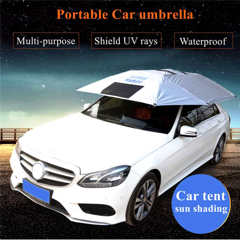 Portable Universal Outdoor Car Sun Shade Tent Windshield Umbrella Roof Cover UV Protection Tent yp100120 100x120cm 100x240cm 100x360cm prefab homes roof top tent polycarbonate sheet plastic shed overehead doorawning