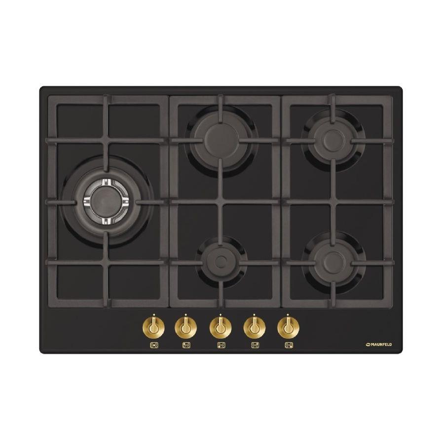 Cooking panel MAUNFELD EGHE.75.33CB. R/G Black cooking panel maunfeld eghe 64 43cw g white
