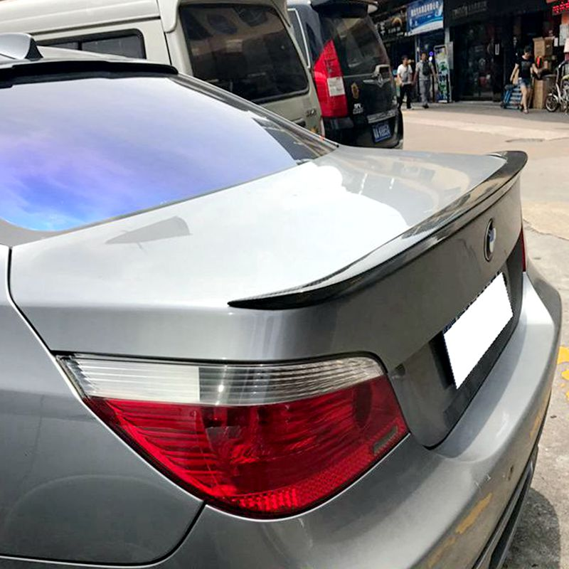 for bmw e60 spoiler high quality abs material car rear wing spoilers for bmw e60 m5 520 525 528. Black Bedroom Furniture Sets. Home Design Ideas
