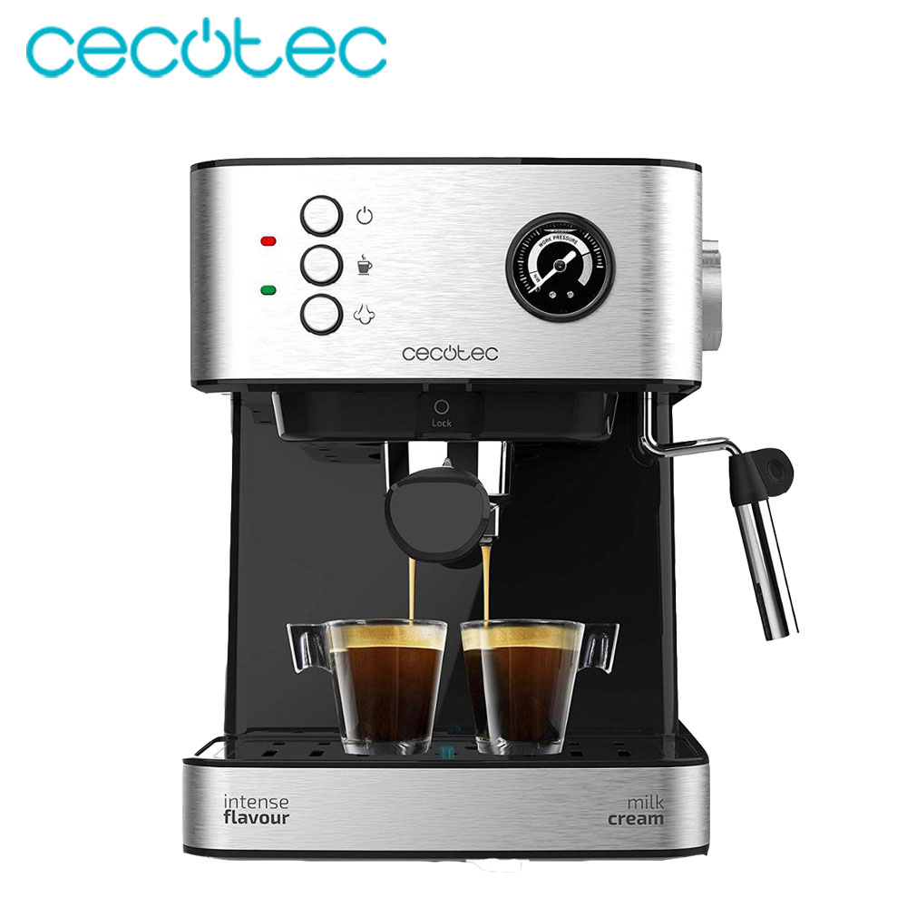 Cecotec Express Coffee Maker 20 Bars Professionale With Pressure Gauge 850 W Pressure Gauge Includes Adjustable Vacuum Tray Warm