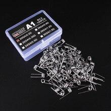 100 pçs/caixa cigarro eletrônico rda atomizador pavio fio da bobina bobina de premade A1 Pré Enrolado enrolamento fio de aquecimento de resistência