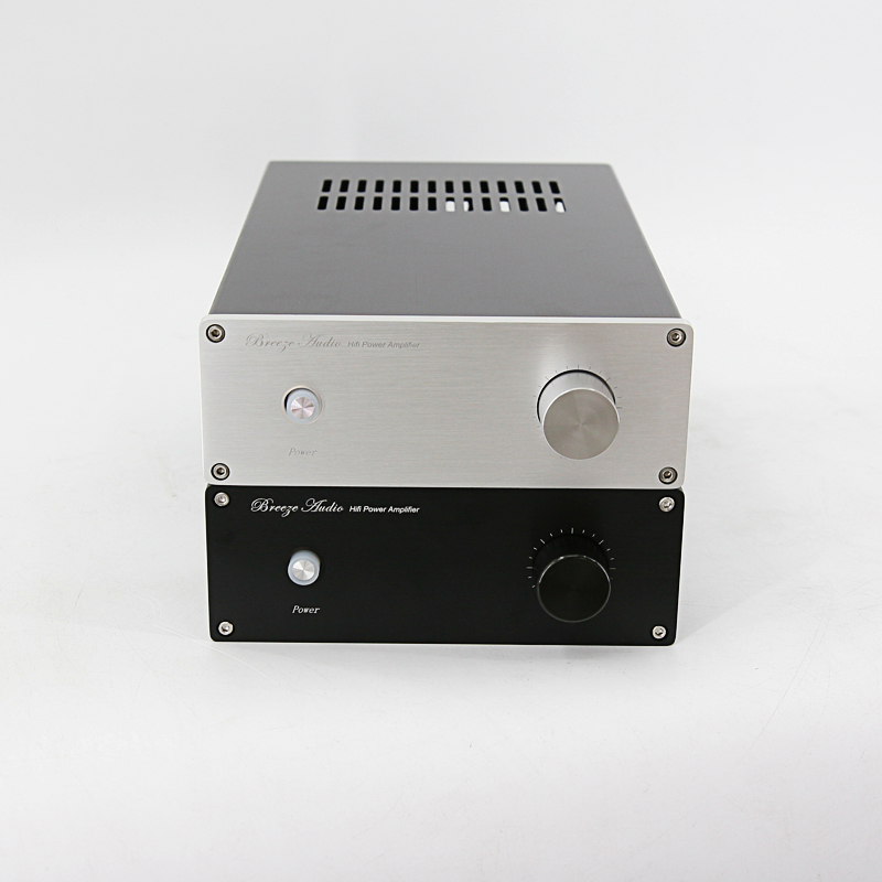 BZ1907D All Aluminum Power Amplifier Box LM3886 Chassis Audio Amp Case Can Accommodate 200-300W Transformer breeze audio power amplifier aluminum chassis amp case bz3207s box