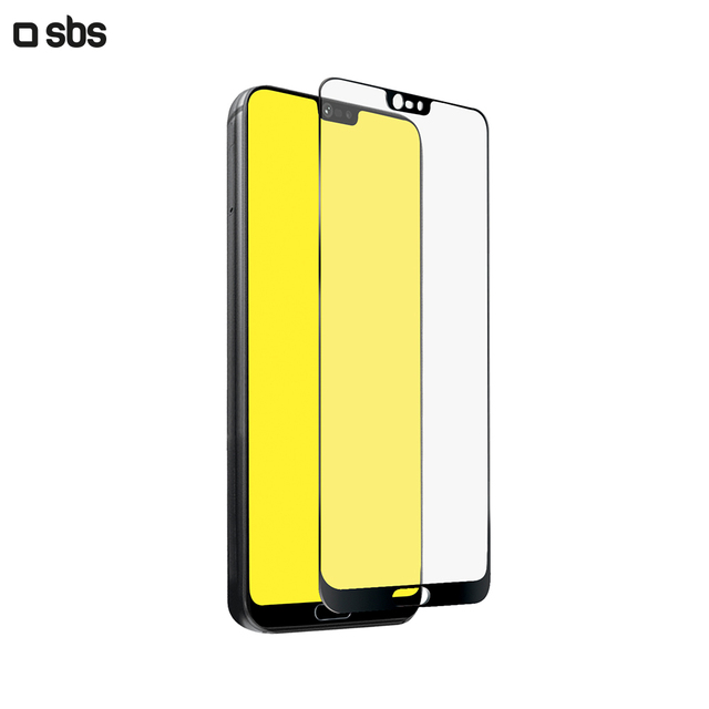 Защитное стекло 2.5D Full Screen для Huawei P20, черная рамка, SBS