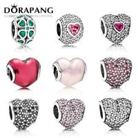 DORAPANG 100 925 Sterling Silver Classic Beads Love Heart Charm Fit Bracelet DIY Bracelet The Factory