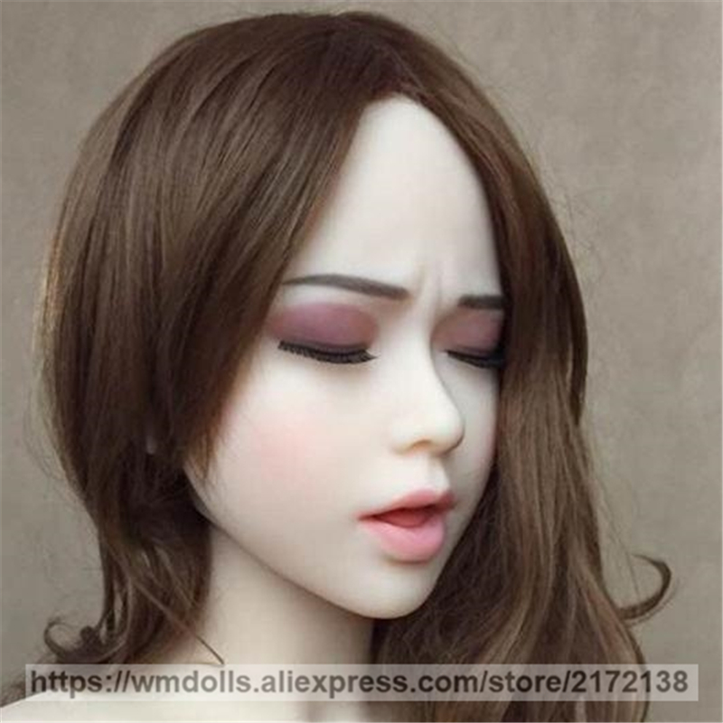 wmdoll sex doll head for silicone sex dolls with sexy closed eyes oral sex TPE love doll adult toyswmdoll sex doll head for silicone sex dolls with sexy closed eyes oral sex TPE love doll adult toys