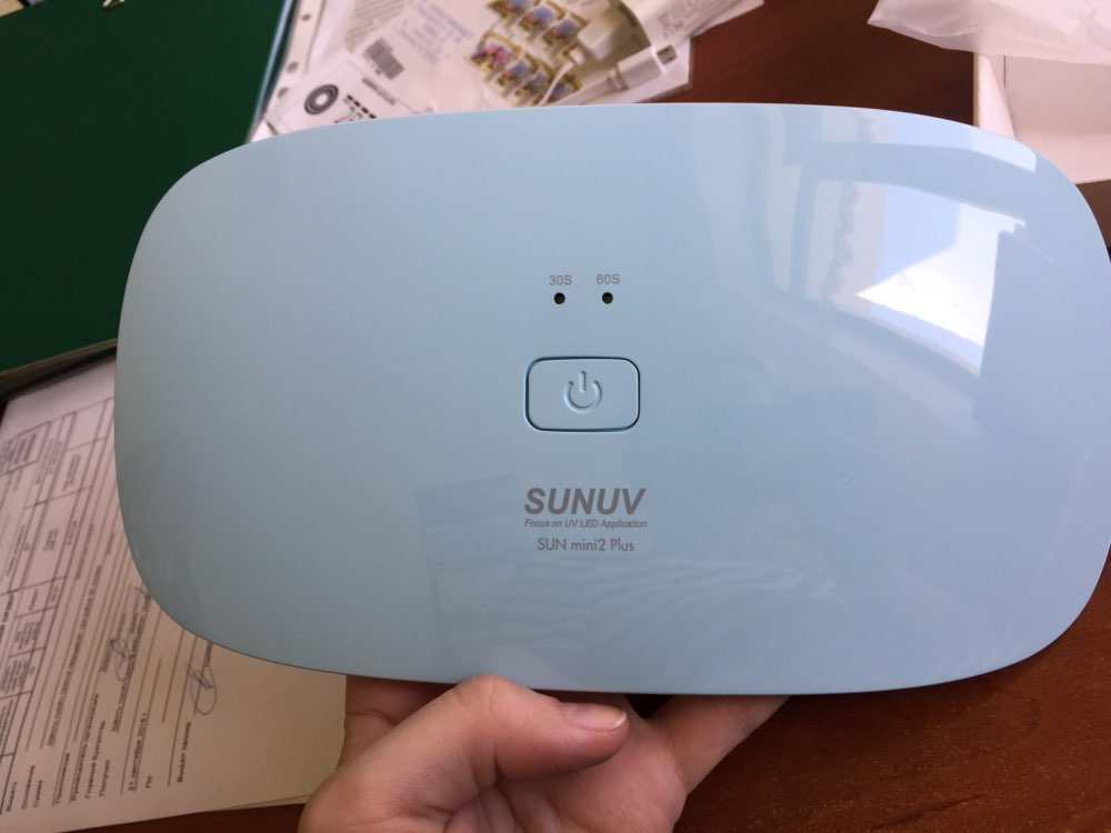 SUNUV Nail Dryer SUNmini2 Plus UV LED Lamp15Leds Curing Thumb Nail Manicure Pedicure Faster USB Charge Europe Adapter