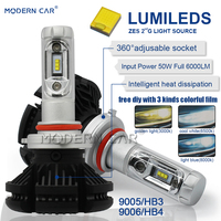 Modern Car 9006 9005 Led Headlamp HB3 HB4 ZES Chip Car Auto Light Bulbs 3000K Amber 6000K White 8000K Cooling White Headlights