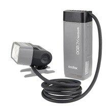 Godox EC200 200W Extension Flash Hoofd voor Godox AD200 Flashpoint EVOLV 200 Pocket Flash, 2M Lange Verleng Kabel, Werkt met AD200