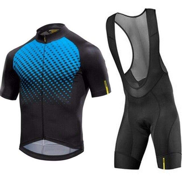 0b4ad80f3 Mavic race kit 2018 Summer Men s short sleeve and bib shorts 9D pad road  bike cycling