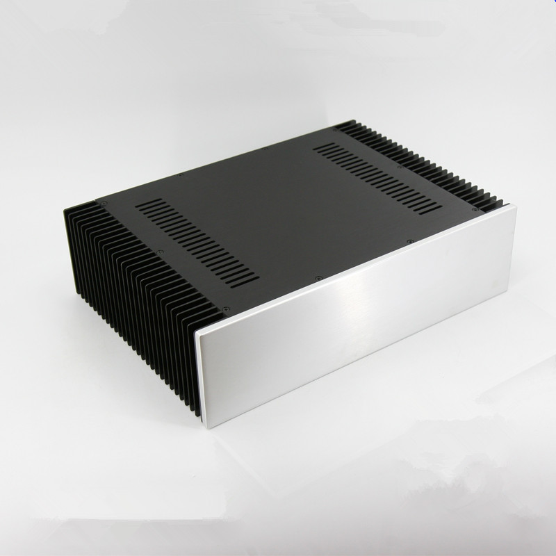 BZ4312D Cooling all-aluminum power amplifier chassis on both sides / Large Class A Amplifier Case Audio Amp Box 430MM*120MM*310M