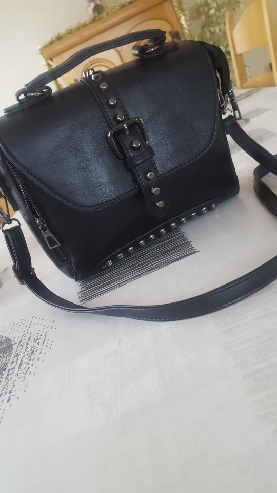 Leather Crossbody Bag for Women - Messenger Vintage Studded Style photo review