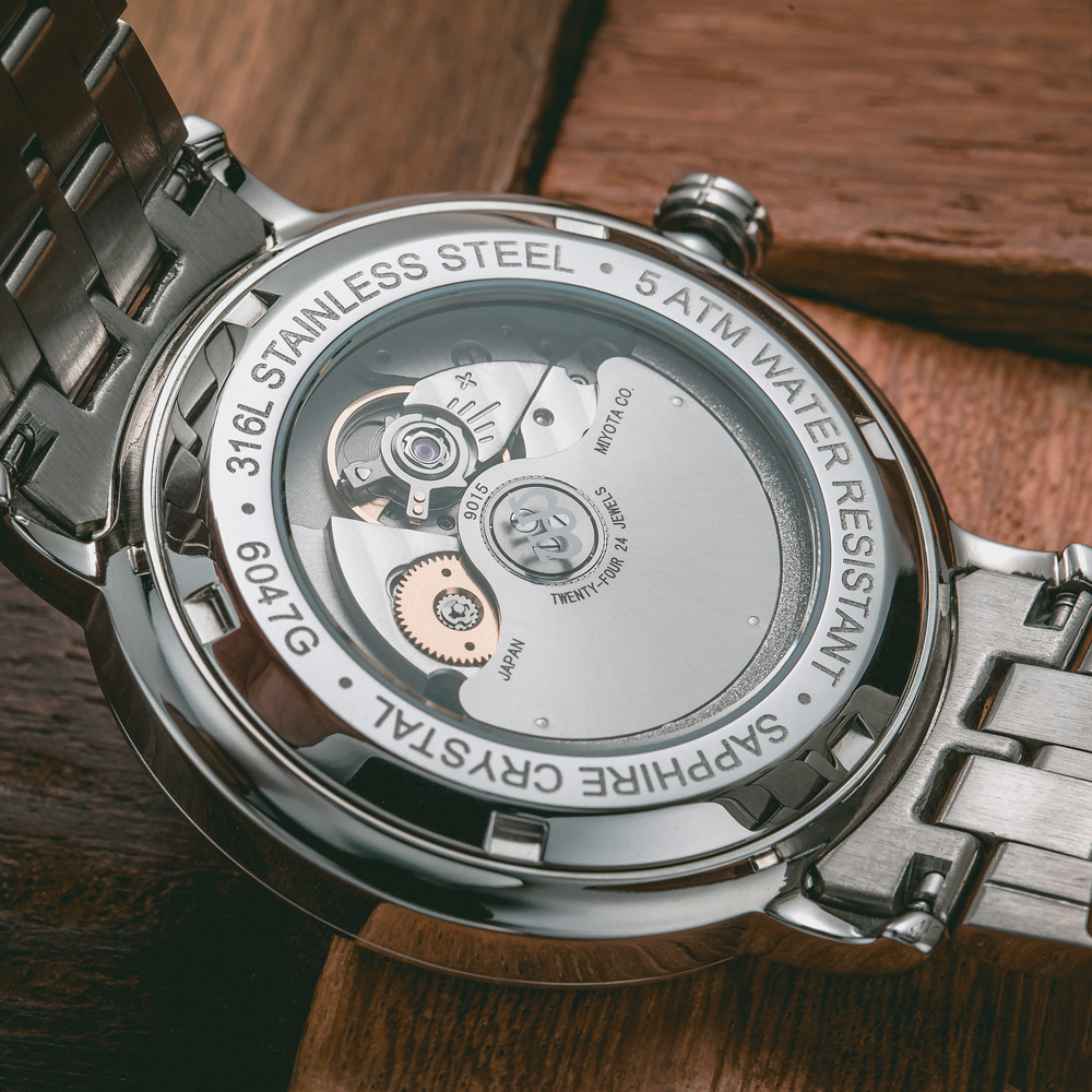 NAKSEN Män Business Armbandsur Märke Lyx Diamond Watch Automatiska - Herrklockor - Foto 4