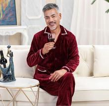 Fdfklak pijama masculino plus size pajamas men sleepwear set autumn winter pyjamas men thicken flannel man nightwear L-3XL