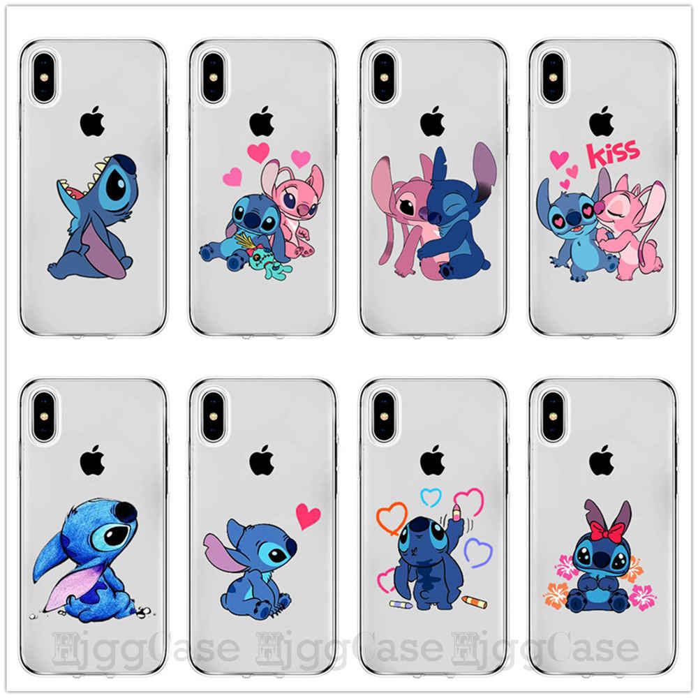 Cartoon Cute Stich Stitch Phone Case For iPhone 7 8 6 6s Plus X XR XS MAX 5 5S SE Soft Silicone TPU Cover Coque Fundas