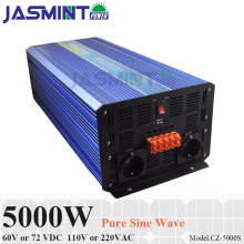 цена на 5000W 60V/72VDC 100/110/120VAC or 220/230/240VAC Pure Sine Wave PV Inverter Off Grid Solar& Wind Power Inverter PV Inverter