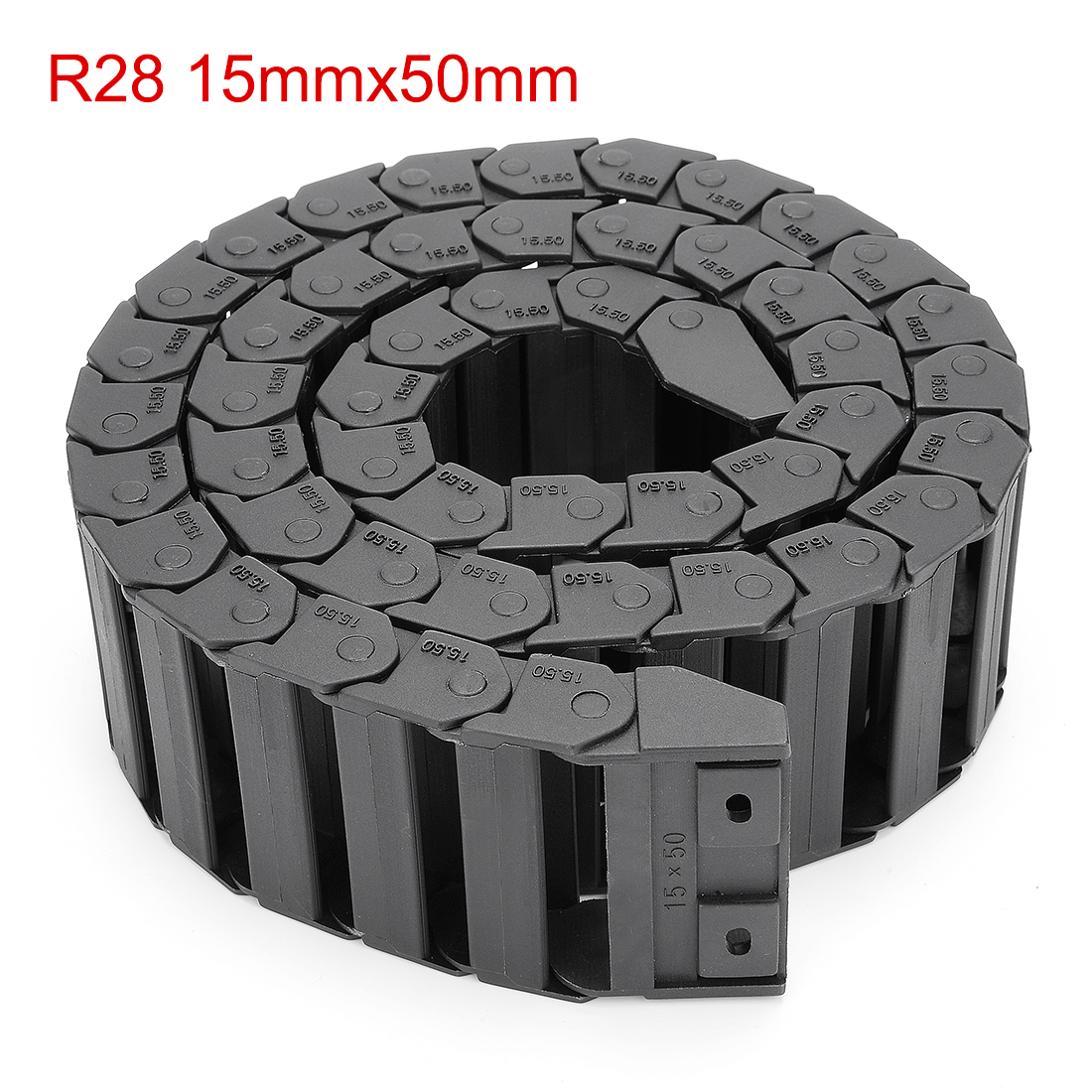 UXCELL R28 15x50mm Black Plastic Cable Drag Chain Wire Carrier 1M Length for CNC high quality bare lamp poa lmp47 for sanyo plc xp41 plc xp41l plc xp46 plc xp46l with japan phoenix original lamp burner