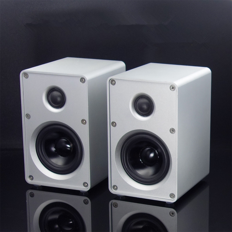1 pair HIFI Bookshelf Speaker All Aluminum Chassis Speaker HIFI Passive Speaker For Amplifier Audio 3-inch Two-way HIFI Speaker h 019 fountek fr88ex full range 3 inch hifi speaker amplifier speaker hot sale 84 3db 1w 1m