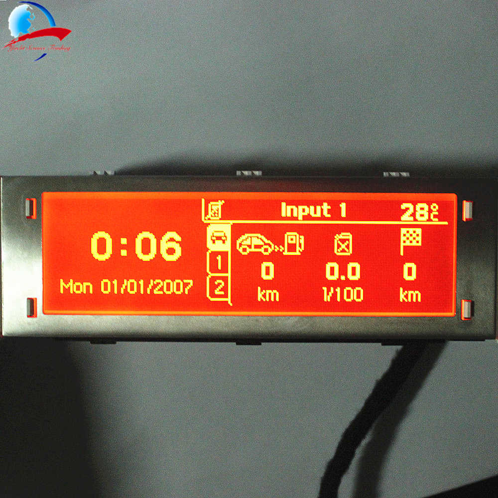 12 Pin car 4 menu Display Red screen support USB and Bluetooth red monitor 12 pin for Peugeot 307 407 408 citroen C4 C5