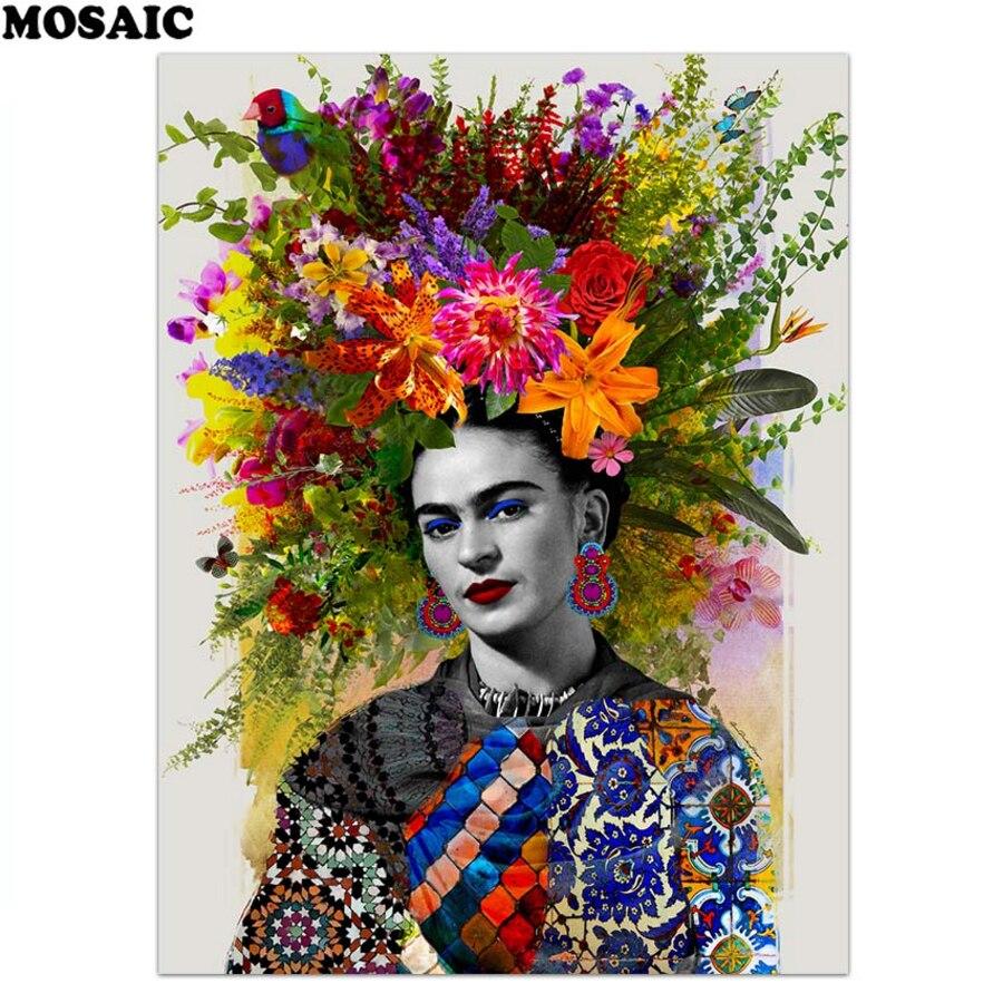 3d Strass Diamanten Stickerei Frida Kahlo Frau 3d Diy Diamant Malerei Kreuzstich Handwerk Quadrat Mosaik wohnkultur