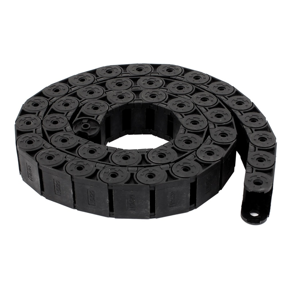 цена на 1PCS Nylon Machine Tool Cable Drag Chain Wire Carrier R20 20mm x 15mm For 3D Printer CNC Engraving Machine Transmission Chains