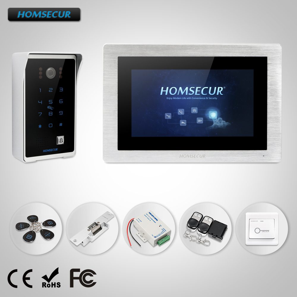 HOMSECUR 7 Wired Hands free Video Audio Smart Doorbell with Password Access and Motion Detection BC081