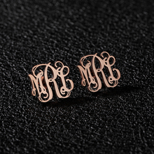Custom Monogram Stud Earrings For Women Boucle Doreille Personalized Stainless Steel Initials Letters Fashion Jewelry