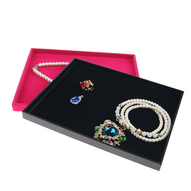 Fashion New Arrival L24.5*W19*H1.5cm Jewelry Tray Rings Cases Earrings Storage Necklaces Holder Bracelets Stand Pendants Box