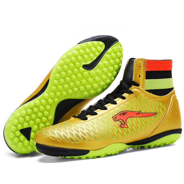 Aptesol Brand 2017 High Ankle Mens Kinds TF Football Shoes Training Soccer Boots Hard-wearing Soccer Shoe High Top Soccer Cleats