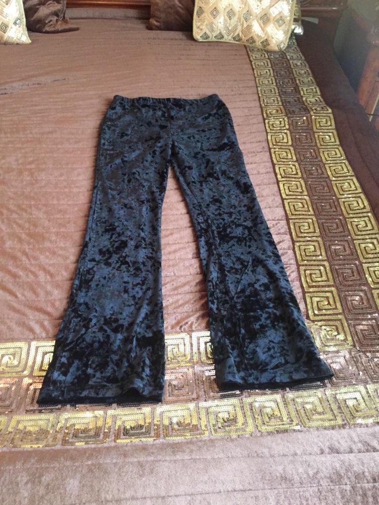 Bella Philosophy Spring Retro Silm High Waist Velvet Flare Pants Stretchy Vintage Pant Women Autumn Long Pants photo review