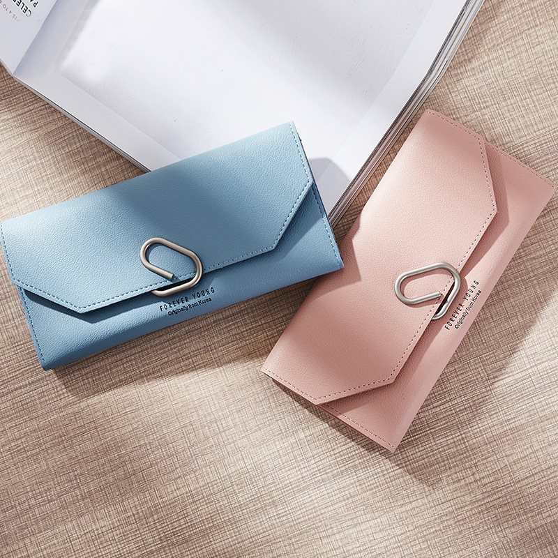 8552acf02d09 AEQUEEN Cute Ring Wallet Women Long Wallets PU Leather Coin Purse Lady  Clutches Sweet Korean Style Purses For Girls Card Holder-in Wallets from  Luggage ...