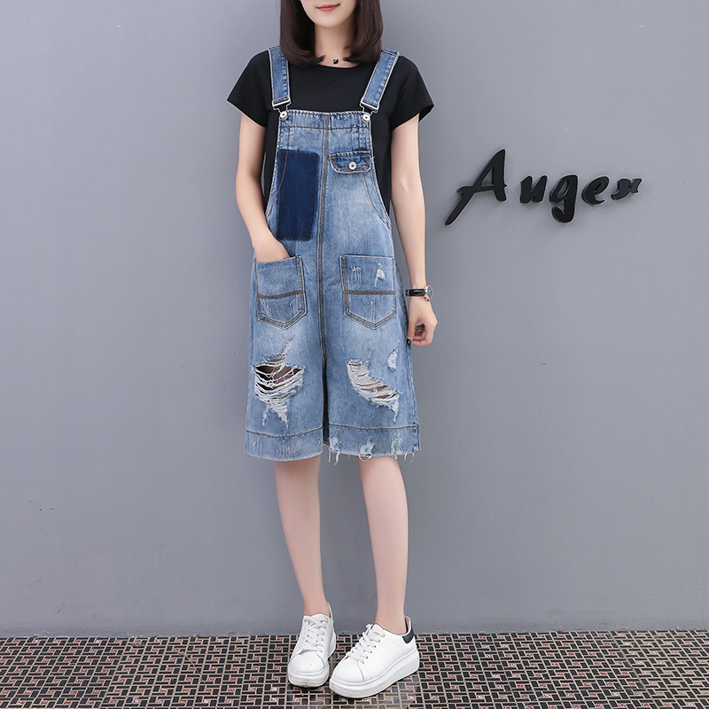 2020 fat MM summer new large size women's European station fashion loose wild jeans denim pants