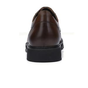 Image 3 - גמלים עסקי גברים נעלי עור אמיתי נעליים יומיומיות שמלה/משרד רטרו אנגליה זכר חרוך בציר צבע עור נעלי גברים