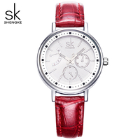 SK 4 Color Fashion Leather Watchband Ladies Quartz Watch Woman Watches Luxury Women Wristwatch Women S