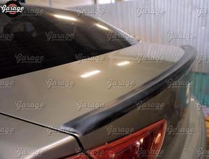 Image 2 - Spoiler à lèvre arrière pour Mitsubishi Lancer 10 2007 2015 sur le couvercle du coffre ABS garniture en plastique ABS aérodynamique saber wing sport pad