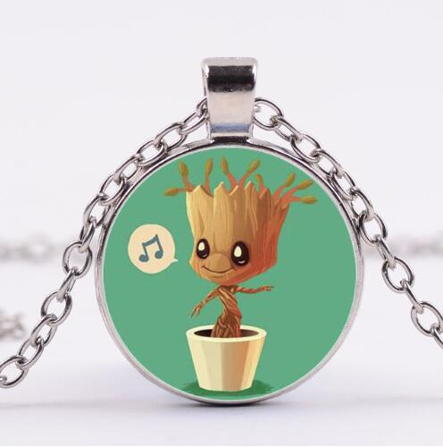 Guardians Of the Galaxy 2 Necklace Dancing Potted tree man Star-Lord Rocket Vinyl Baby Juguetes Toys Best Gifts for kids girls