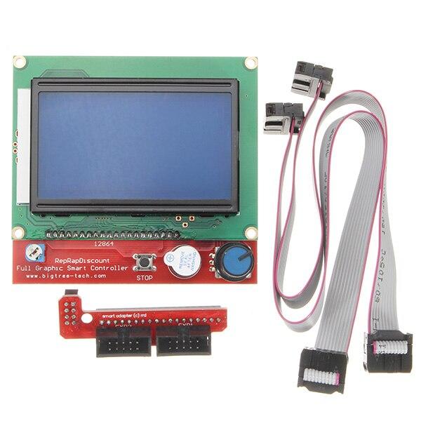 1 x LCD12864 Controlador + 1 x Placa de Interruptor + 2x30 cm Cabo Controlador de LCD Do Painel de Controle Da Impressora 3D exibição