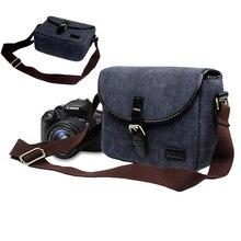 DSLR Canvas Travel Shoulder Bag Camera Case Bag For Canon 7D 70D 1100D 1200D 1300D 100D 450D 500D 550D 600D 650D 700D 750D 760D