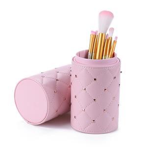 Image 2 - Fashion Makeup Brushes Holder Case PU Leather Travel Pen Holder Storage Cosmetic Brush Bag Brushes Organizer Make Up Tools