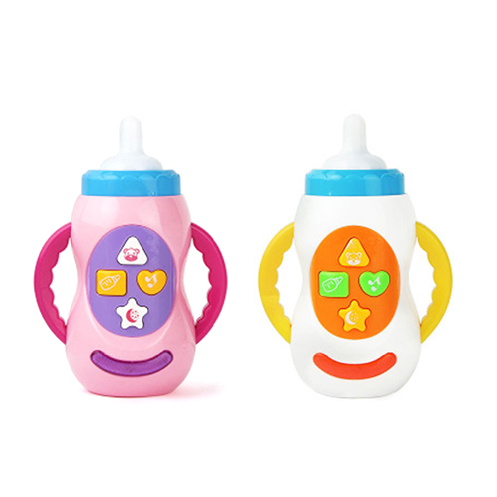 Baby Kids Children Safe Sound Music Light Milk Bottle Toy Educational Baby Bottle Toys