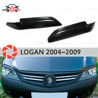 Eyebrows for Renault Logan 2004-2009 for headlights cilia eyelash plastic ABS moldings decoration trim covers car styling