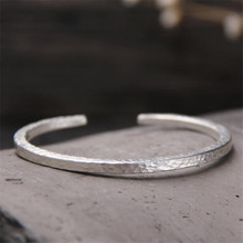 999 Sterling Silver Cuff Bangle Bracelet No Engraved Logo Lettering Fit DW Box Classic for Women Men