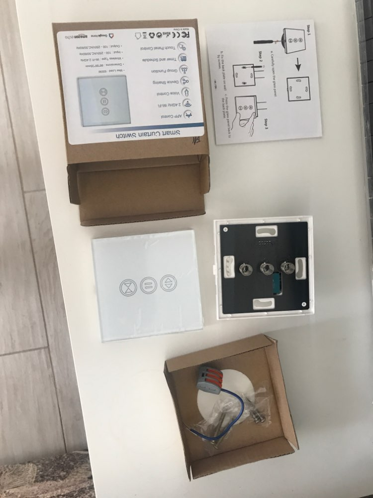 Sistema automático de controle de cortina Elétrica Interruptor Parede