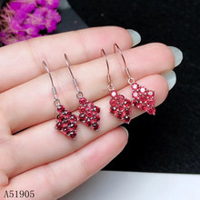 KJJEAXCMY boutique jewelry 925 sterling silver inlaid natural aluminum magnesium garnet gemstone female luxury earrings support