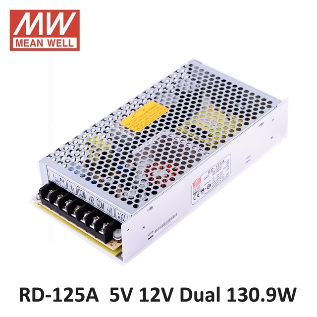 Original Mean well RD-125A 130.9W DC 5V 12V Dual output power source Meanwell Switching Power Supply